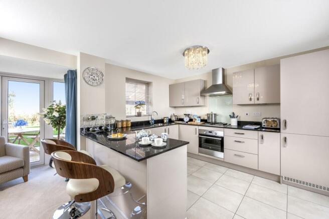 The Harborough kitchen at Bishop Park, Henfield