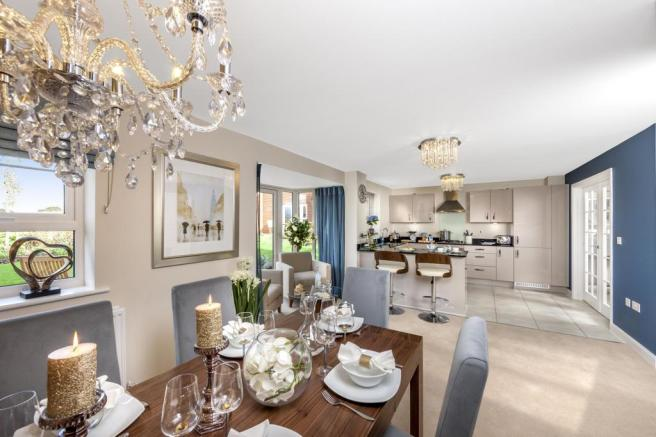 The Harborough kitchen/family/dining room at Bishop Park, Henfield