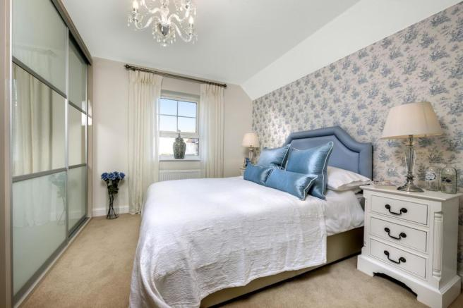The Harborough bedroom at Bishop Park, Henfield