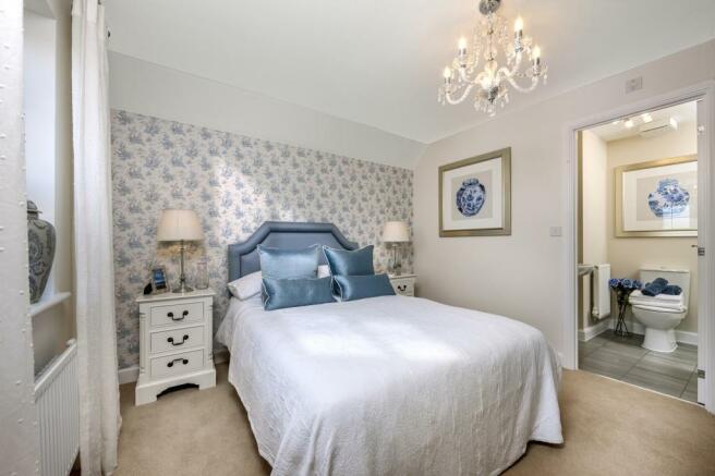 The Harborough bedroom 2 at Bishop Park, Henfield