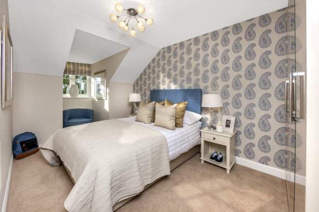 The Harborough bedroom 3 at Bishop Park, Henfield