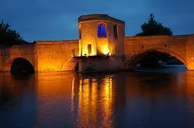 The bridge at night.
