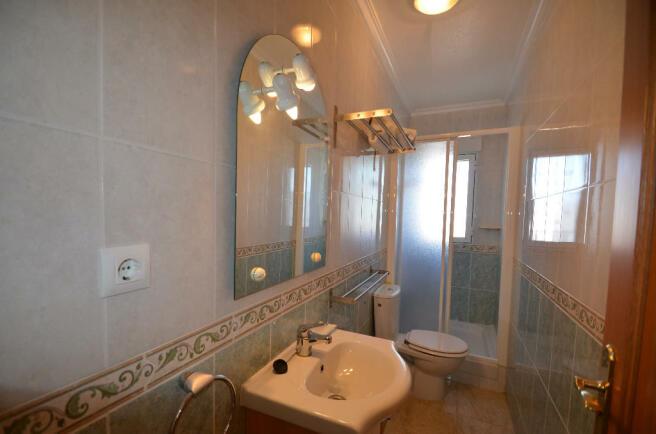 Upstairs shower