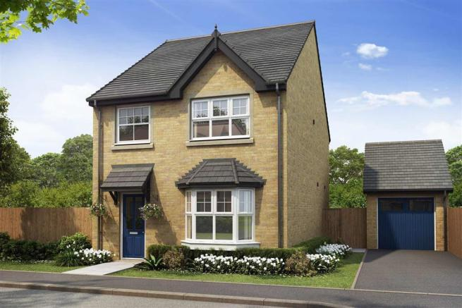 Artist impression of The Lydford (Buff Brick) at Tootle Green