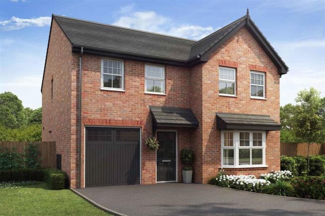 Artist impression of The Haddenham (Red Brick) at Tootle Green