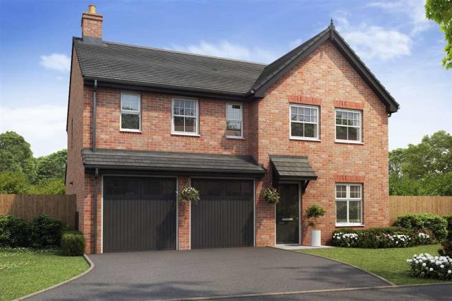 Artist impression of The Lavenham (Red Brick) at Tootle Green