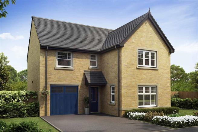 Artist impression of The Evesham (Buff Brick) at Tootle Green