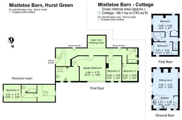 1st floor & cottage
