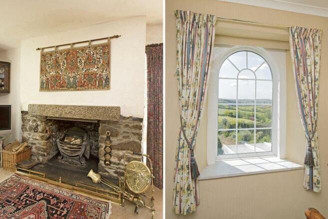 Fireplace/window