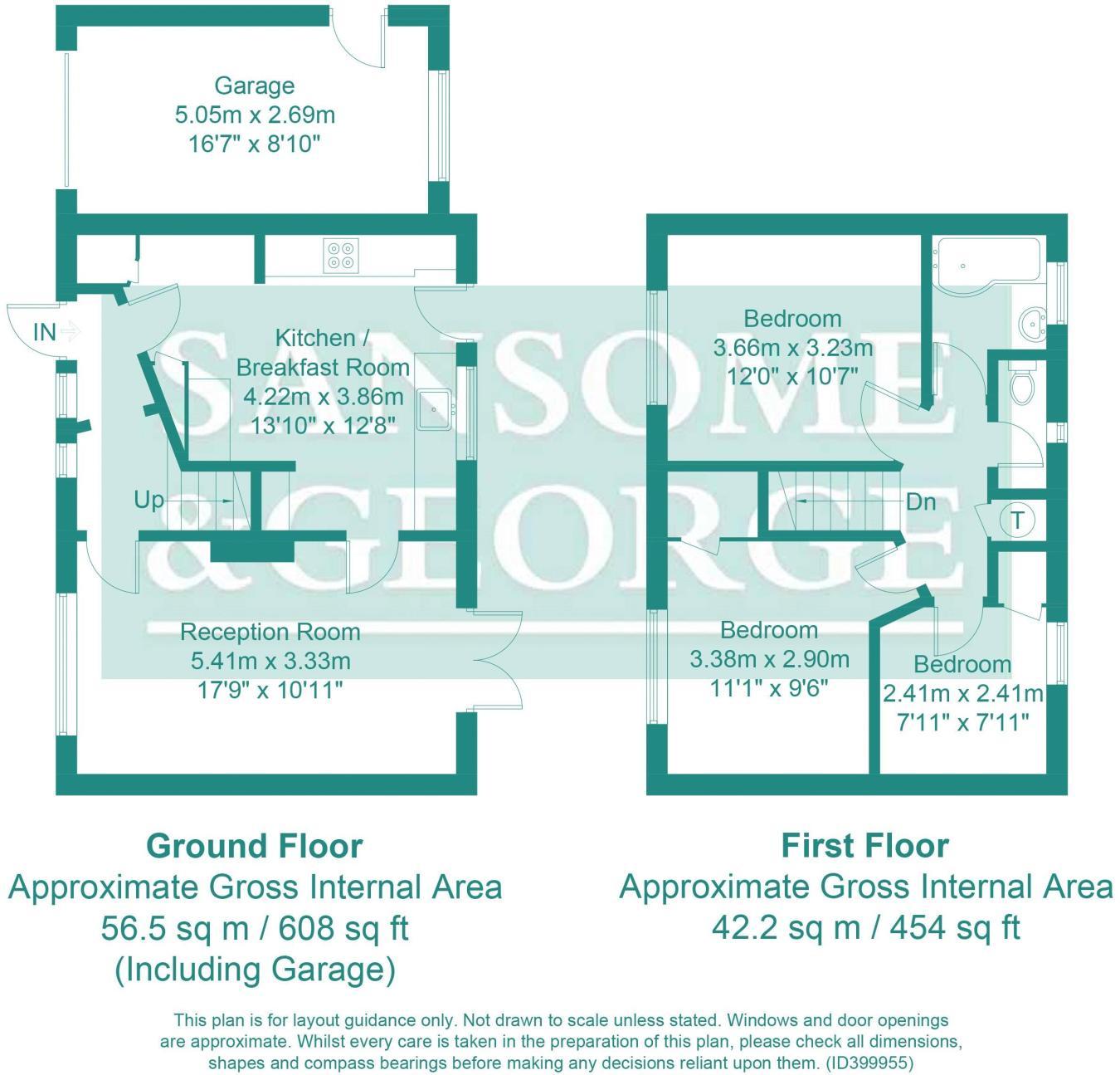3 bedroom end of terrace house for sale in Bishopswood Road, Tadley ...