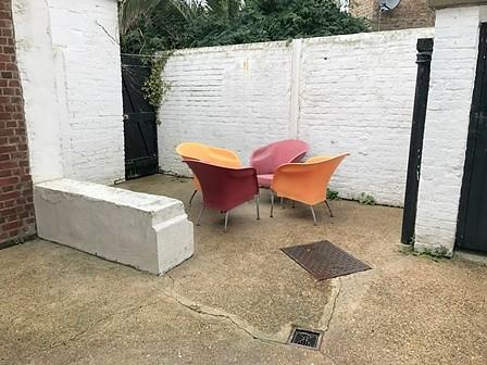 Walled courtyard gar