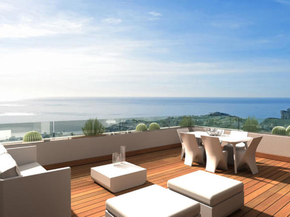 Luxury Apartment in Cumbre del Sol, Terrace