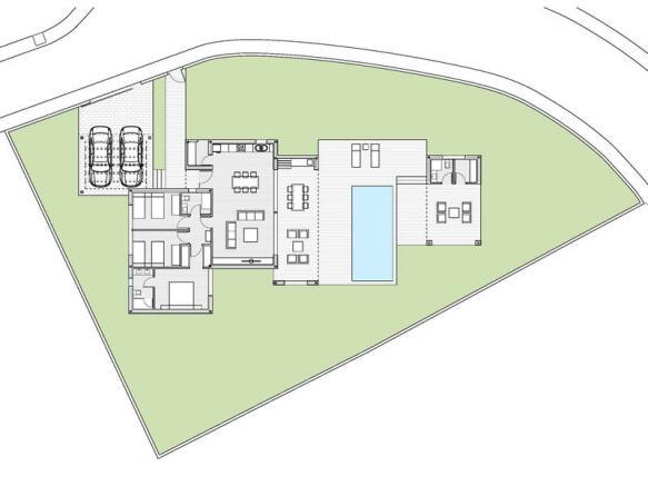 Villa in Moraira, Plan