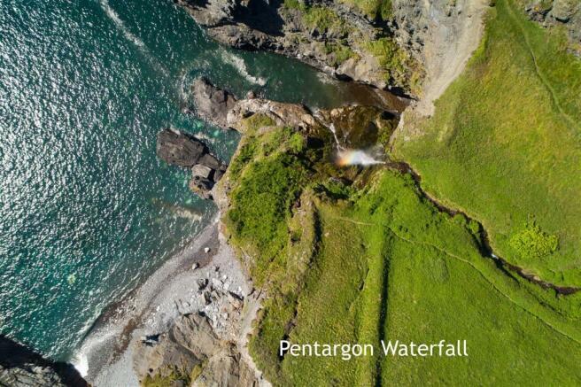 Pentargon Waterfall 250 meters
