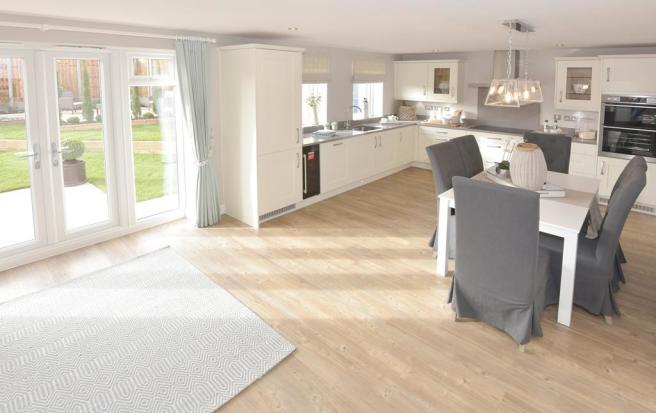 Poets Meadow Lichfield Show Home Kitchen