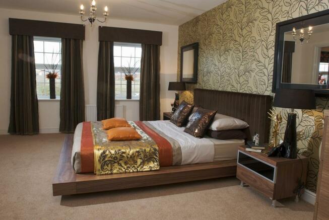 Spacious bedrooms