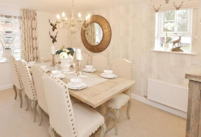 The Moorecroft dining room