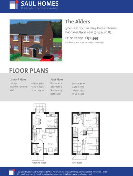 Alders floor plan