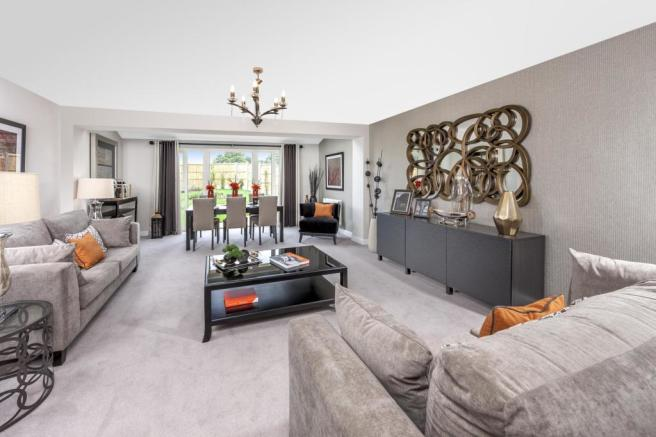 The Woodvale living/dining room at Beaufort Place, Crawley
