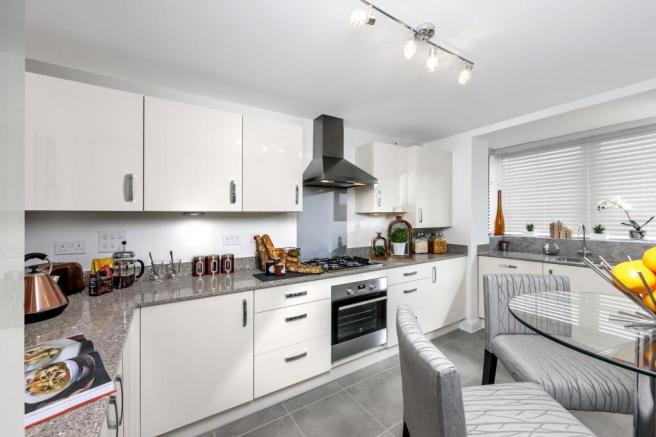 The Woodvale kitchen at Beaufort Place, Crawley
