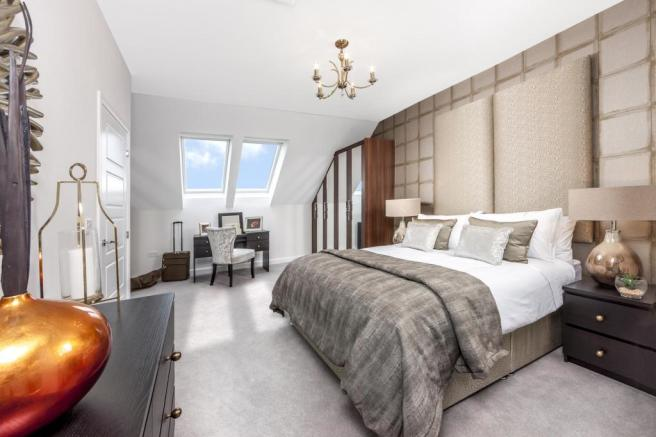 The Woodvale master bedroom at Beaufort Place, Crawley