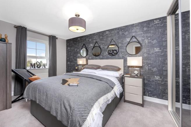 The Woodvale bedroom 2 at Beaufort Place, Crawley
