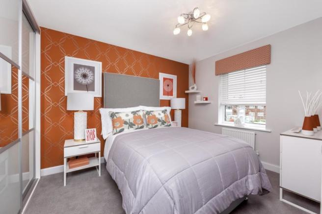 The Woodvale bedroom 3 at Beaufort Place, Crawley