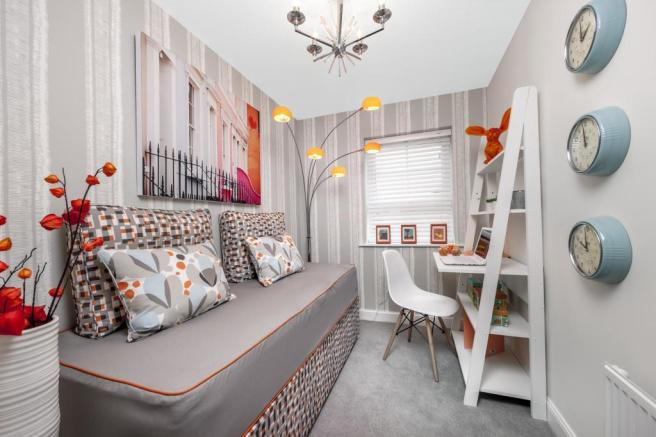 The Woodvale bedroom 4 at Beaufort Place, Crawley