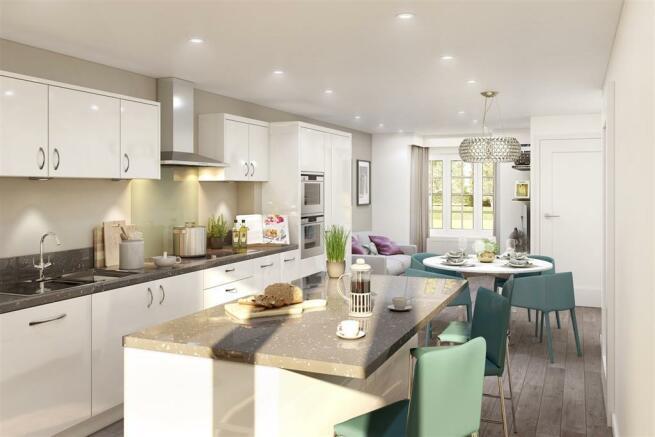 Artists Impression of Belbury Kitchen/Diner/Family Room