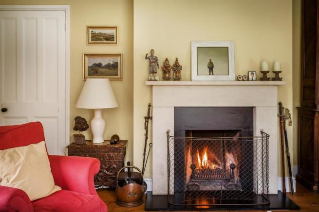 house, estate agents Peaslake fireplace