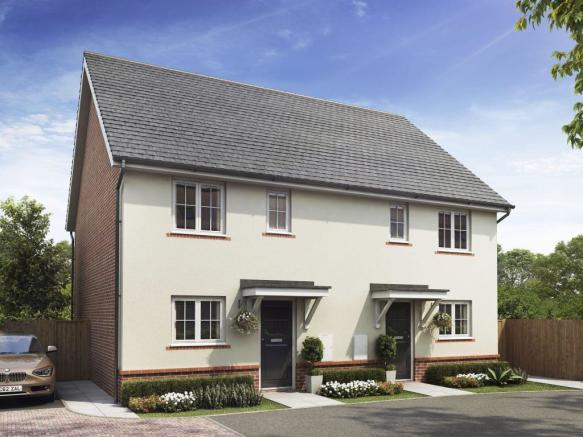 The Barwick housetype CGI at Saxon Place