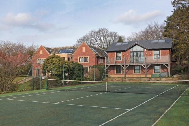 Tennis Court & House
