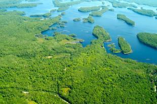 Ponhook Lake Arial