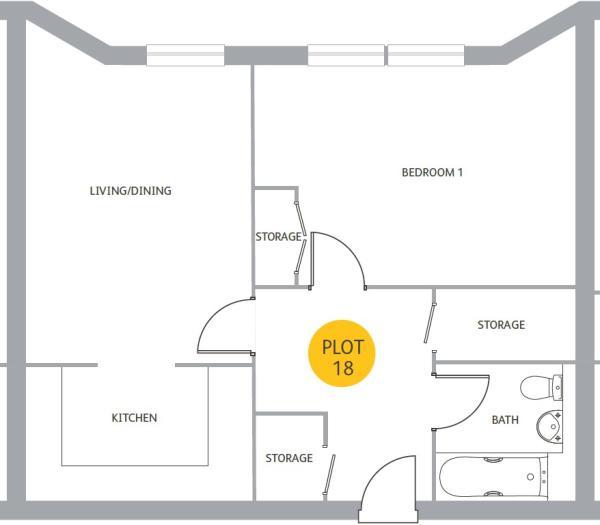Floor plan - flat 18