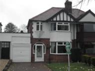 Oakwood Road semi detached house for sale