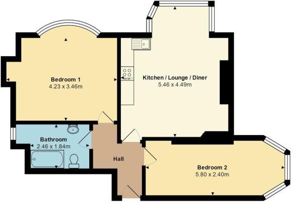 Flat B, 12 Milton Ro