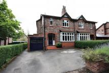 semi detached home for sale in Hall Road, Wilmslow