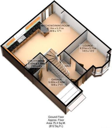 FLOOR PLAN: 3D: GROUND FLOOR: