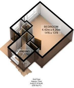FLOOR PLAN: 3D: SECOND FLOOR: