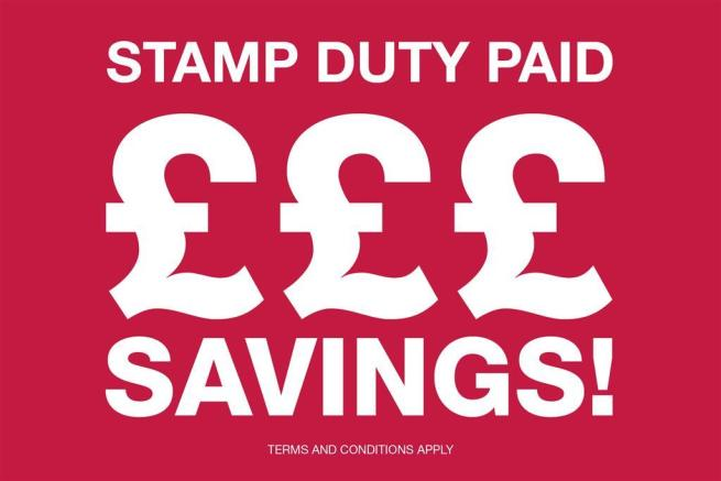 Stamp Duty Paid - red banner