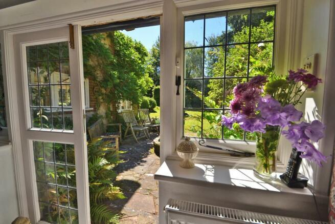 Doors out to garden