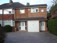 semi detached property for sale in Meadow Road, Wythall