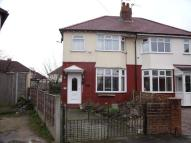 semi detached house for sale in Manor Road, Brinnington...