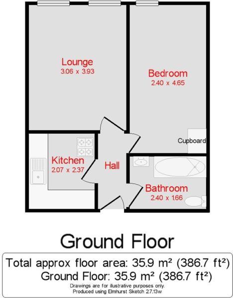 Floor plan Flat 14Br