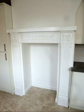 Kitchen fireplace