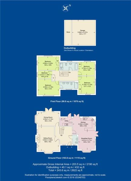 The Oaks Floor plan.