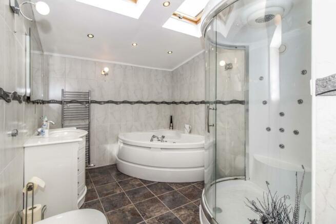 Bathroom with spa ba