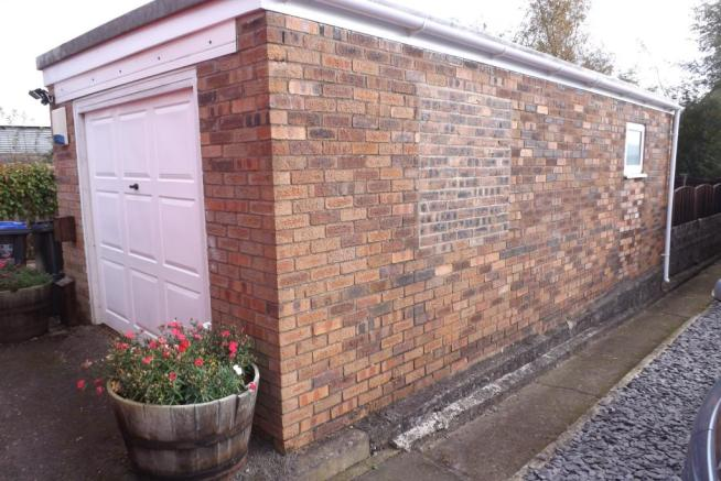 Detached garage.