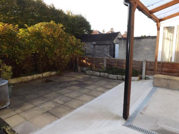 Rear Patio With Ramp