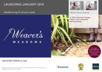 2 bed new property in Weavers Meadow...